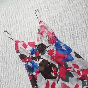 American Eagle Summer Sun Dress Floral Pink Blue 4